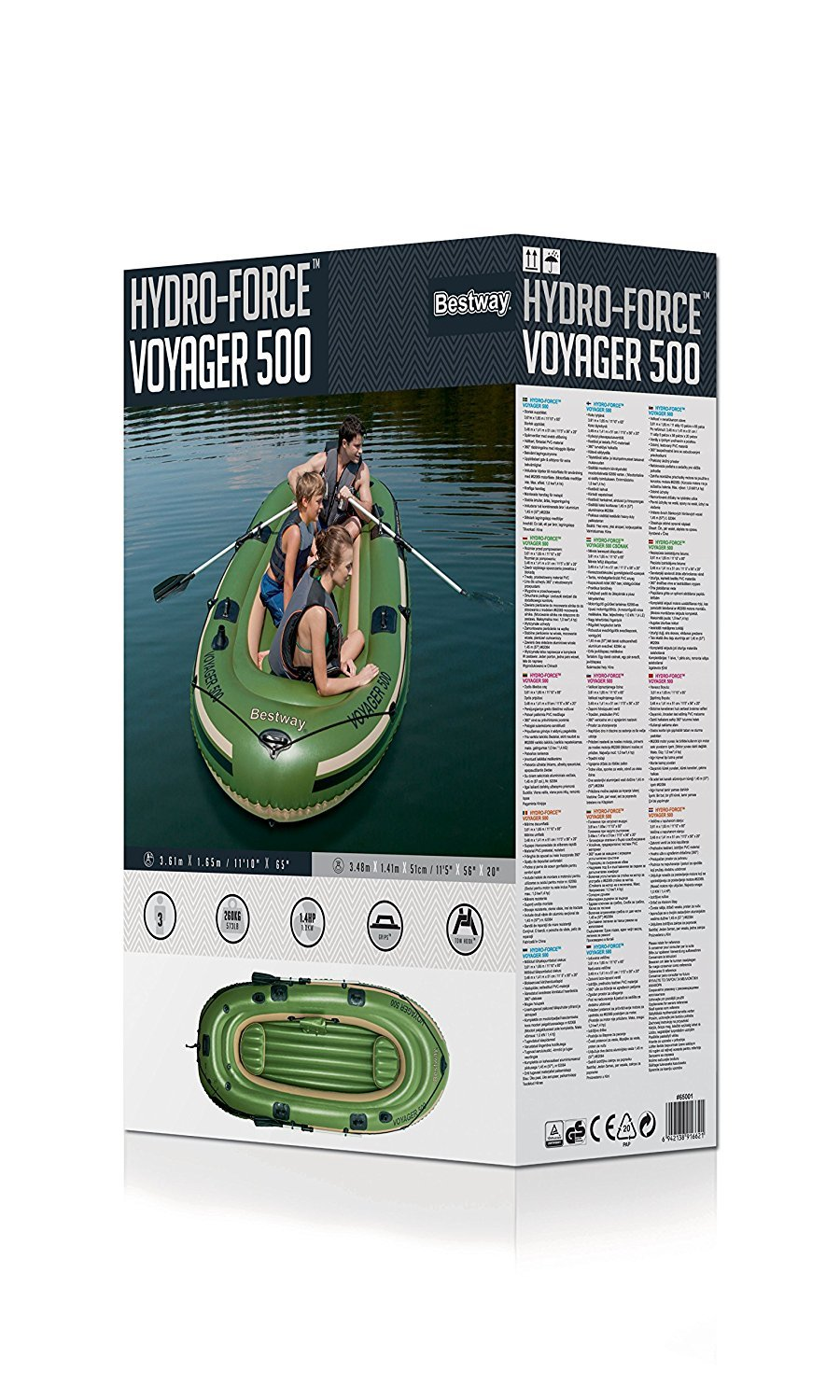 IZZY SPORT 3 personas Bote inflable Hydro Force Voyager 500 TÜV/GS ...