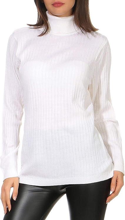 ZARMEXX Suéter de Cuello Alto para Mujer Funda básica Suéter de algodón Acanalado Combinación Wonder: Amazon.es: Ropa y accesorios