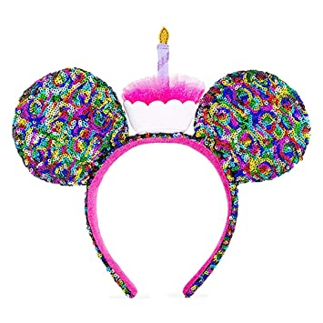 bff7e0d5267b Image Unavailable. Image not available for. Color: Mickey Mouse Ears  Birthday Rainbow Sequin Disney ...