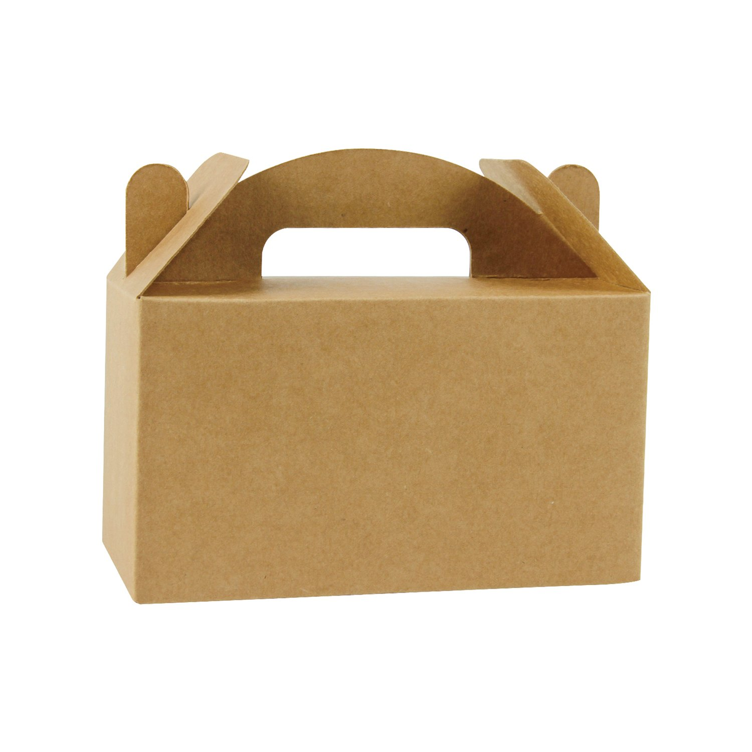 LaRibbons 24 Pack Brown Color Treat Boxes Birthday Party Favors Shower Favor Box, 6.25'' x 3.5'' x 3.5'' by LaRibbons
