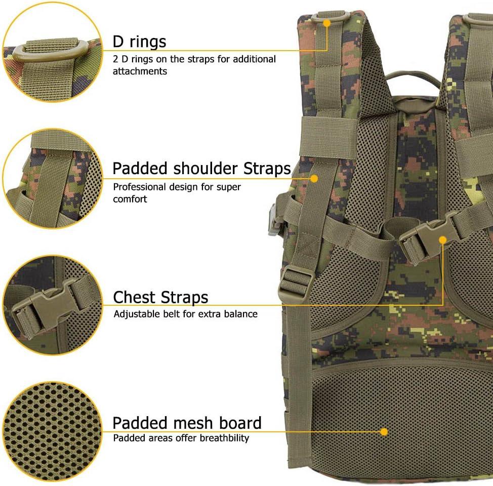 Oleader Sac /à dos tactique militaire Assaut 3 jours Pour randonn/ée tir camping trekking chasse 30 L