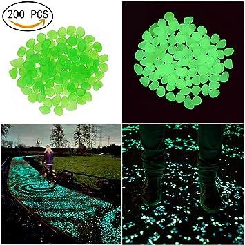 Piedras decorativas Candora®, artificiales, luminosas que brillan en la oscuridad, para jardines