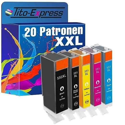 2 opinioni per Serie platino, XXL, compatibile con Canon PGI-550 CLI-551 XL/XL, confezione da