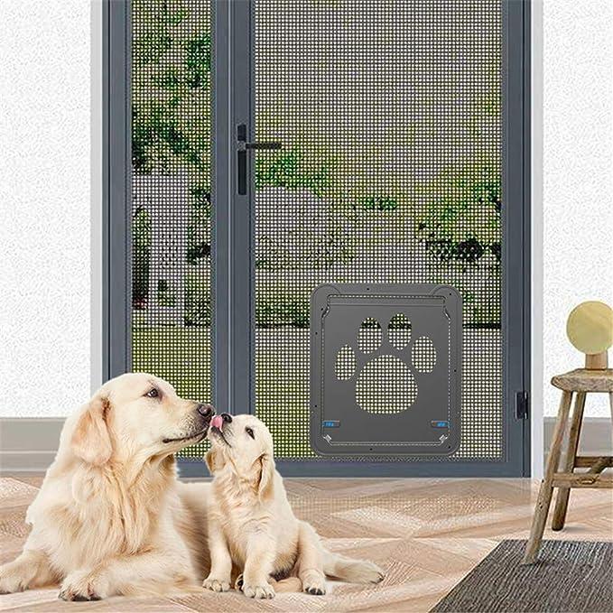 Guoyajf Mascota Pantalla Puerta - Pet Window Screen Dog Door Door Door para Gatos Perros,Pet Dog Cat Screen Door,Protector De Puerta De Pantalla para Puerta ...