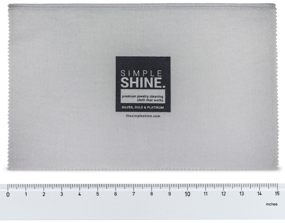 Large Oversized Premium Jewelry Cleaning Cloth | Jewelry Polishing Cloth Cleaner Gold, Silver, Platinum by Simple Shine (Image #1)