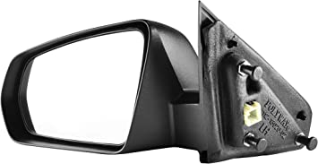 SCITOO Driver Left Side Mirror Flat Side View Mirror Fits for 2008-2014 for Dodge Avenger Power Control Heated Non-Folding 5076503AC CH1320268