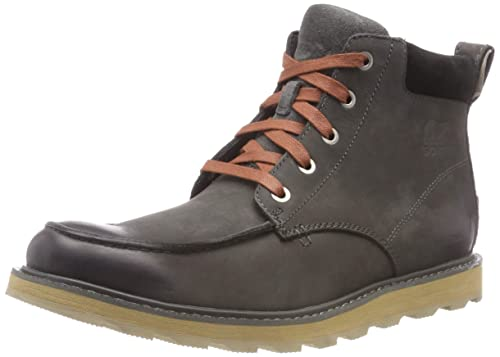 Sorel Madson Moc Toe Waterproof, Botas Impermeables para Hombre, Negro (Grill, Black