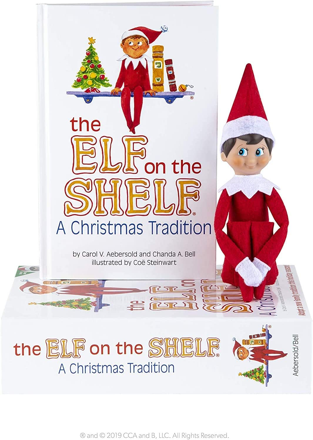Elf on the Shelf : A Christmas Tradition Blue-Eyed Boy Light Tone Scout Elf! Elf and book included.