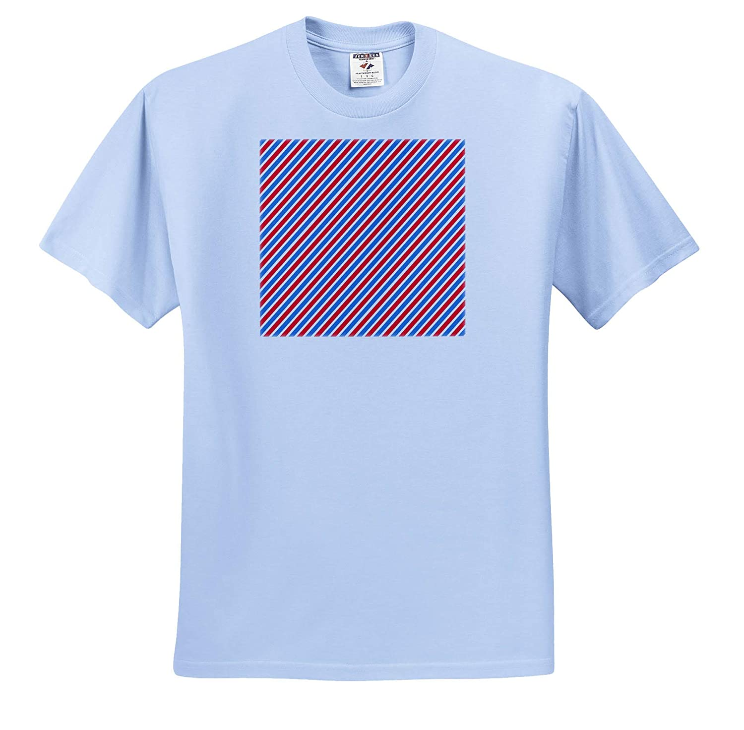 red Colors Pattern of Diagonal line of White Blue T-Shirts Pattern Dot Line Chevron 3dRose Alexis Design
