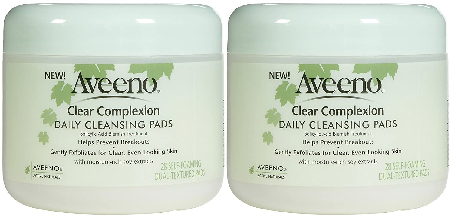 Aveeno Clear Complexion Daily Cleansing Pads, 28 ct, 2 pk