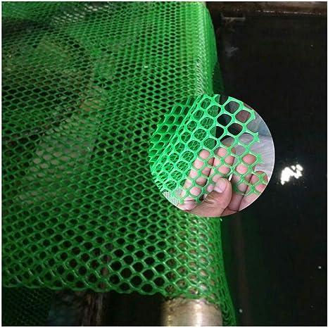 NNFHW Malla de Plástico for Aves de Corral, Malla de Pollo, Red de Protección for Balcón y Jardín, Protección de Plantas,Abertura:0,8cm, Tamaño Personalizable, Verde (Size : 1 * 50m(3 * 164ft)): Amazon.es: