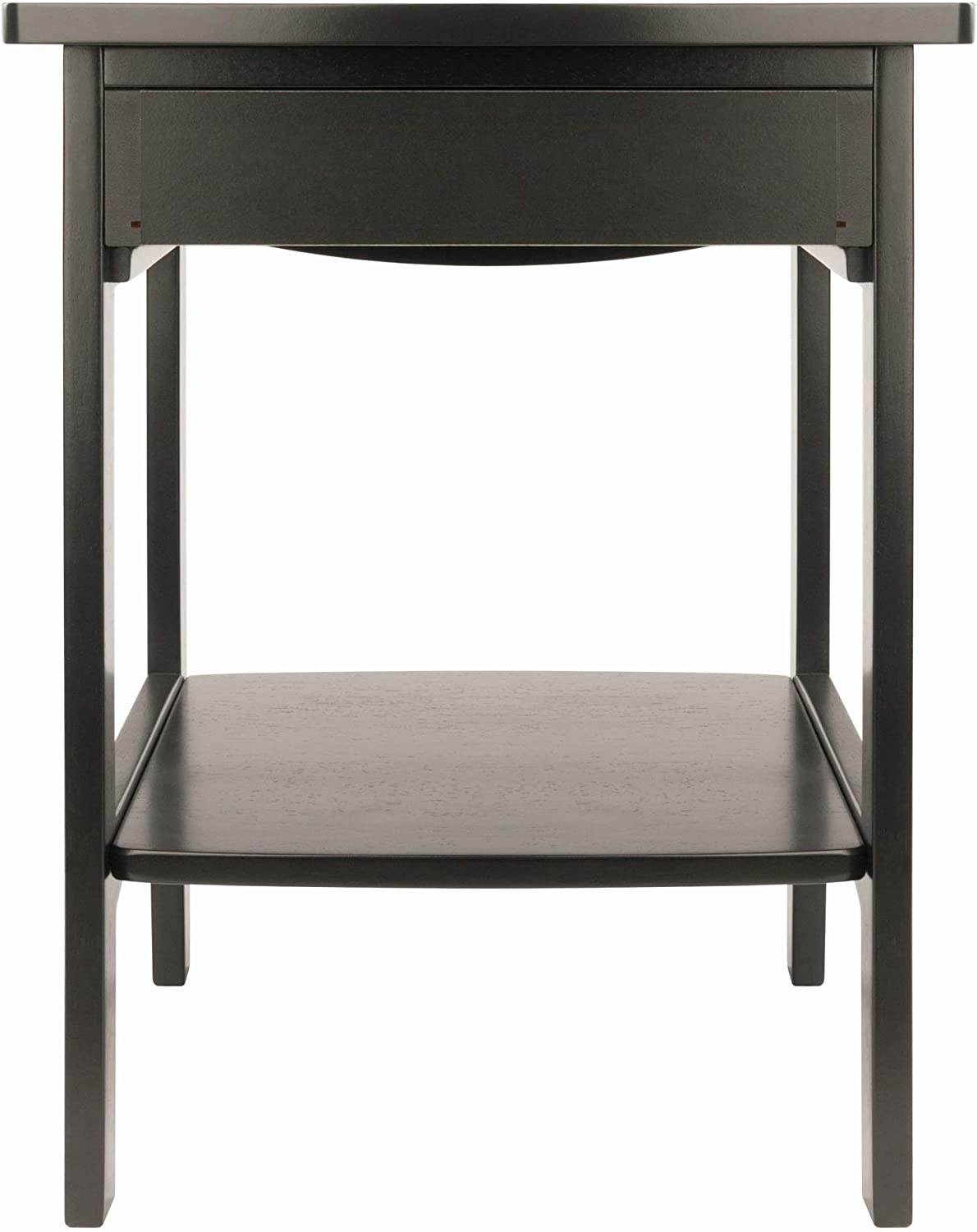 Winsome Wood Claire Accent Table, Black: Kitchen & Dining