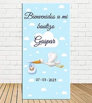 Tu Fiesta Mola Mazo Cartel de Bienvenida de niño de cigüeña ...