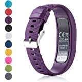 for Garmin Vivofit 4 Replacement Watch Band – Feskio Classic Soft Silicone Metal Clasp Buckle Design Armband Case Holder for Garmin Vivofit 4 Activity Tracker (Large/Small)