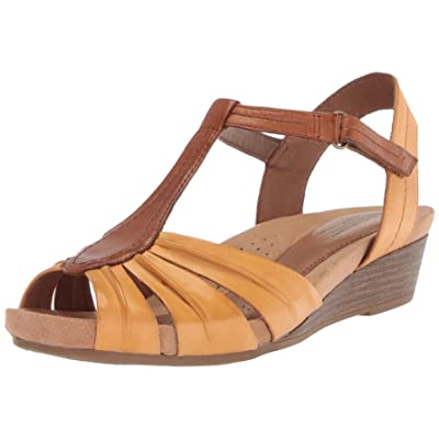 Cobb Hill Women's Hollywood Pleat T Sandal | Mules & Clogs