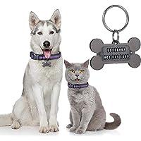 Winter Vines Handstamped Pet ID Tag \u2022 Personalized PetDog ID Tag \u2022 Dog Collar Tag \u2022 Custom Engraved Dog Tag