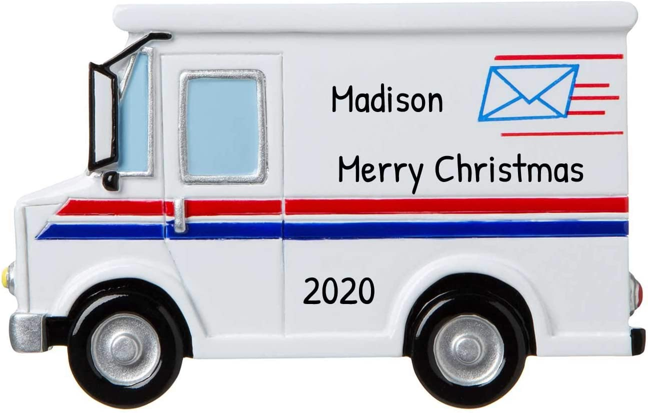 Personalized Postal Worker Christmas Tree Ornament 2020 - Postman Letter Carry Mail Holiday United States Service Parcel Office Coworker Profession New Job Online Shopper Year - Free Customization