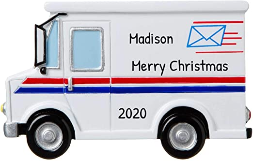 Does Mail Come On Christmas 2020 Amazon.com: Personalized Postal Worker Christmas Tree Ornament