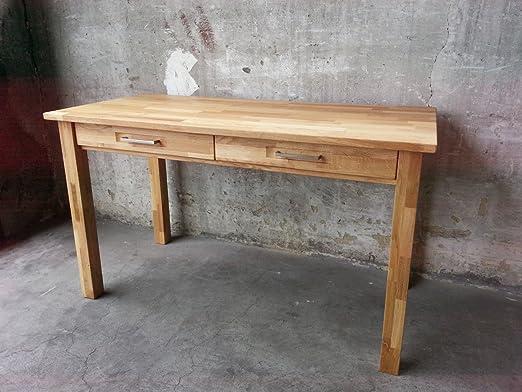 Mesa de escritorio de madera de roble maciza con acabado al aceite ...