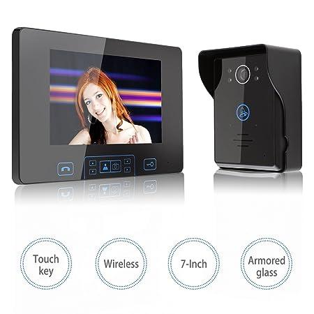 7 Inches Video Door Phoneamzdeal Video Doorbell Entry System 24ghz