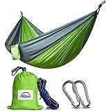 Single Double Camping Hammock/Double Parachute Camping Hammock/Lightweight Nylon Portable Hammock/Best Parachute Double Hammock for Light Travel,Camping,Hiking,Backpacking,Mats,Carpet Apriller