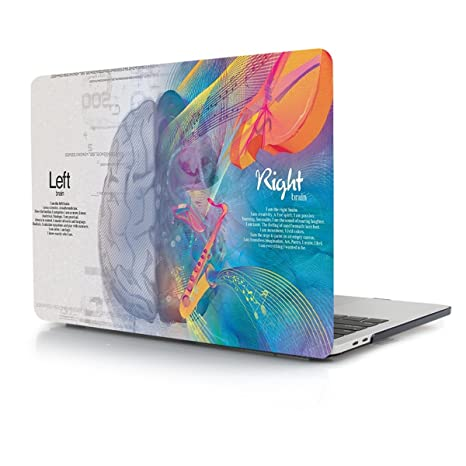 TwoL Funda MacBook Pro 13 2017 2018, Plástico Funda Dura Carcasa para MacBook Pro 13 con/sin Touch Bar (Brain)