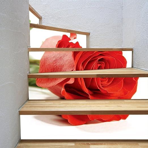 Pegatina De La Escalera Pegatinas De Pared DIY 3D Rosa Impresión ...