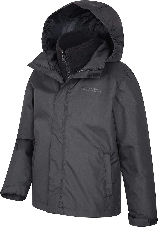 Triclimate Coat Packaway Hood Mountain Warehouse Fell Kids 3 in 1 Jacket