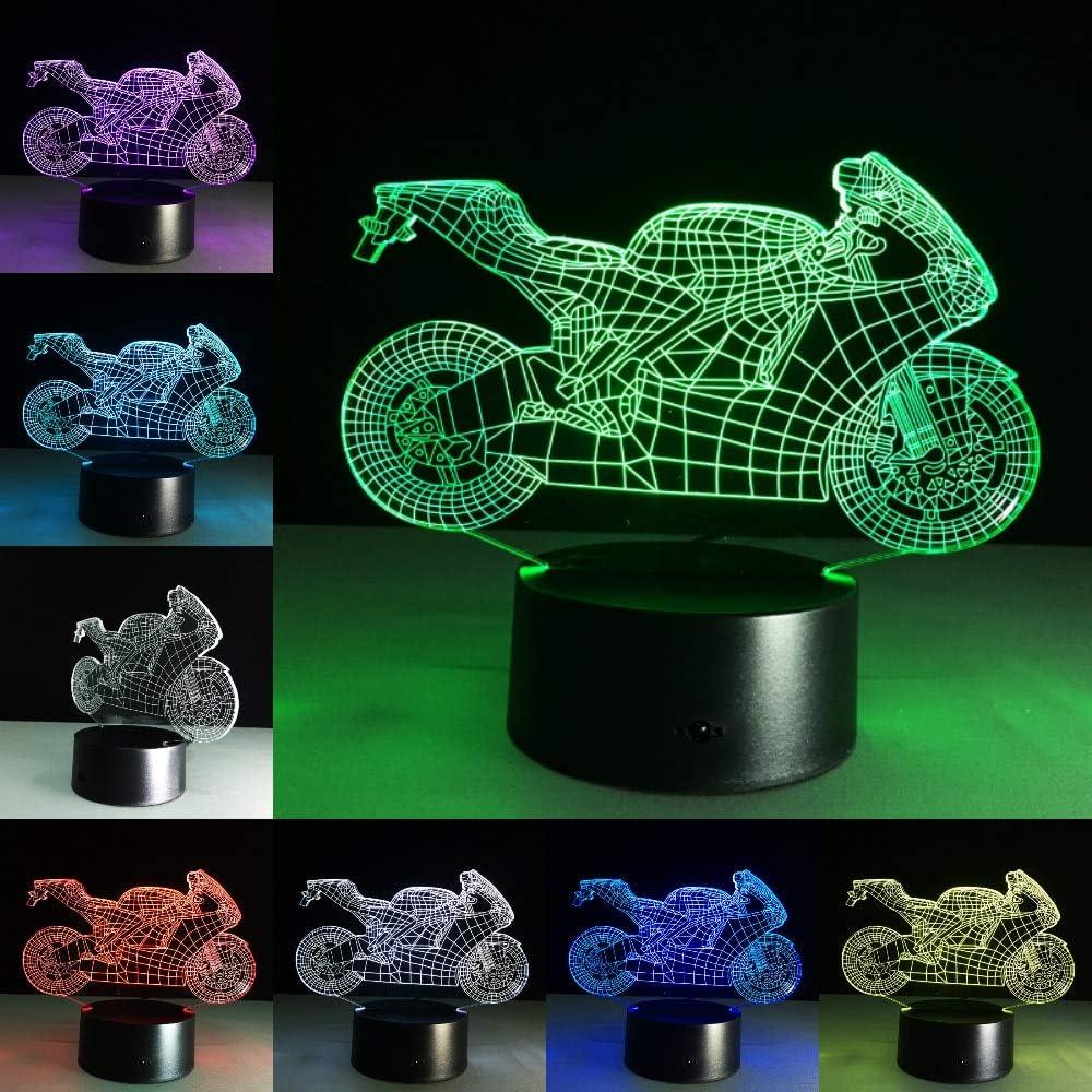 Lámpara de Mesa para Motocicleta táctil luz Nocturna Especies Cambio de Color Motocicleta luz para Dormir lámpara de acrílico Regalo para niños