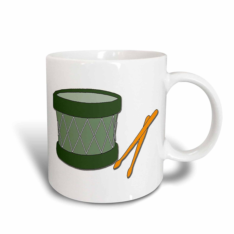 3dRose mug/_160484/_2 Holiday Drum and Sticks Ceramic Mug 15-Ounce