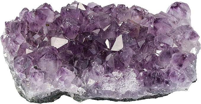 mookaitedecor Natürlichen Amethyst Drusensegment Rohstück Edelstein Kristall Druse kleines Naturstück Dekorative Steine