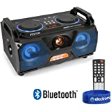 Fenton Portable Stereo Boombox Bluetooth Speaker USB Built-In LED Lights & Remote 120w