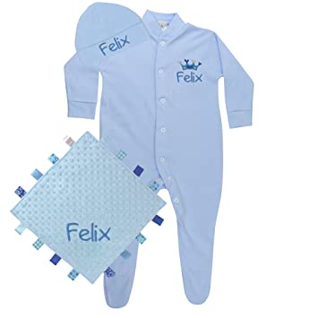 17a97703d3f8 Personalised Gift Baby Boy s Sleepsuit