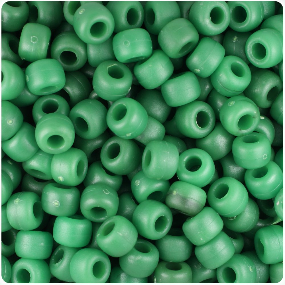 500 Sea Glass Mix Transparent 9x6mm Barrel Pony Beads Made in the USA