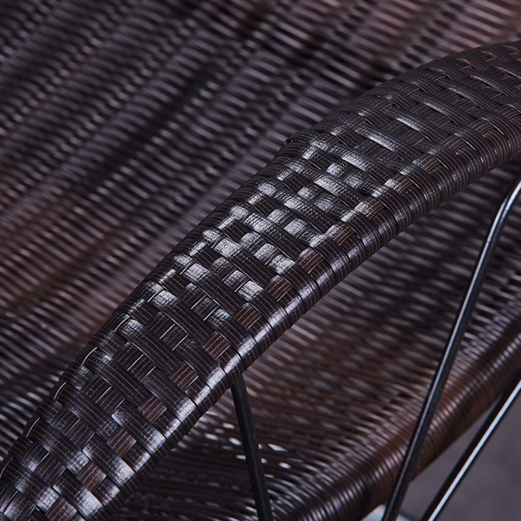 Max.150kg Sunlounger Rattan Outdoor Rocking Chair Sun Loungers Recliner Reclining Sunbed Sling Chair Garden Chair