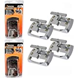 4 Pc Rope Cleats Chrome Fold Away Hook Trailer Anchor Tie Down Outdoors Boat