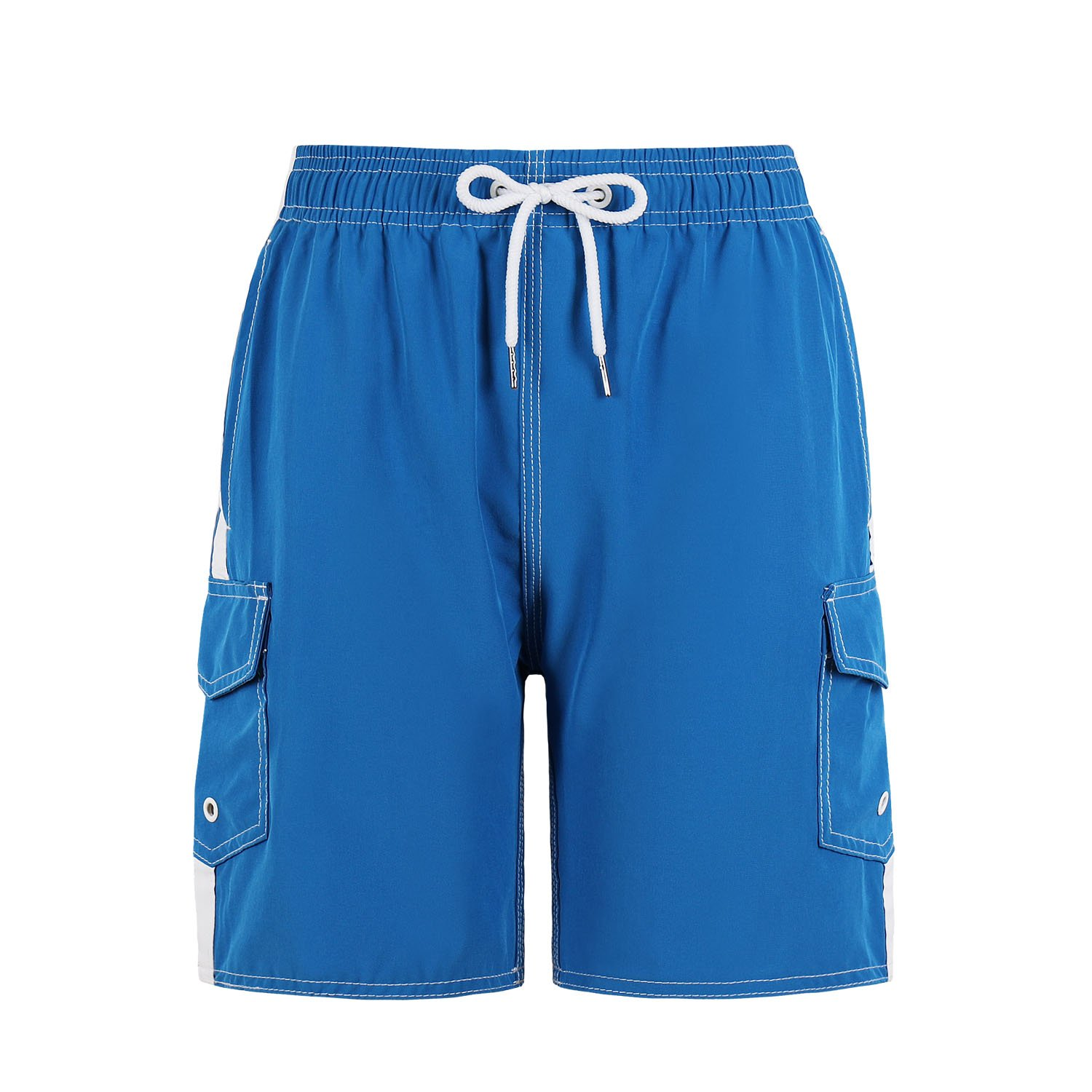 QRANSS Boys Swim Trunks Shorts Bathing Suit with Cargo Pockets