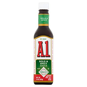 A1 Bold & Spicy Sauce with Tabasco Sauce 10 oz -- Pack ...