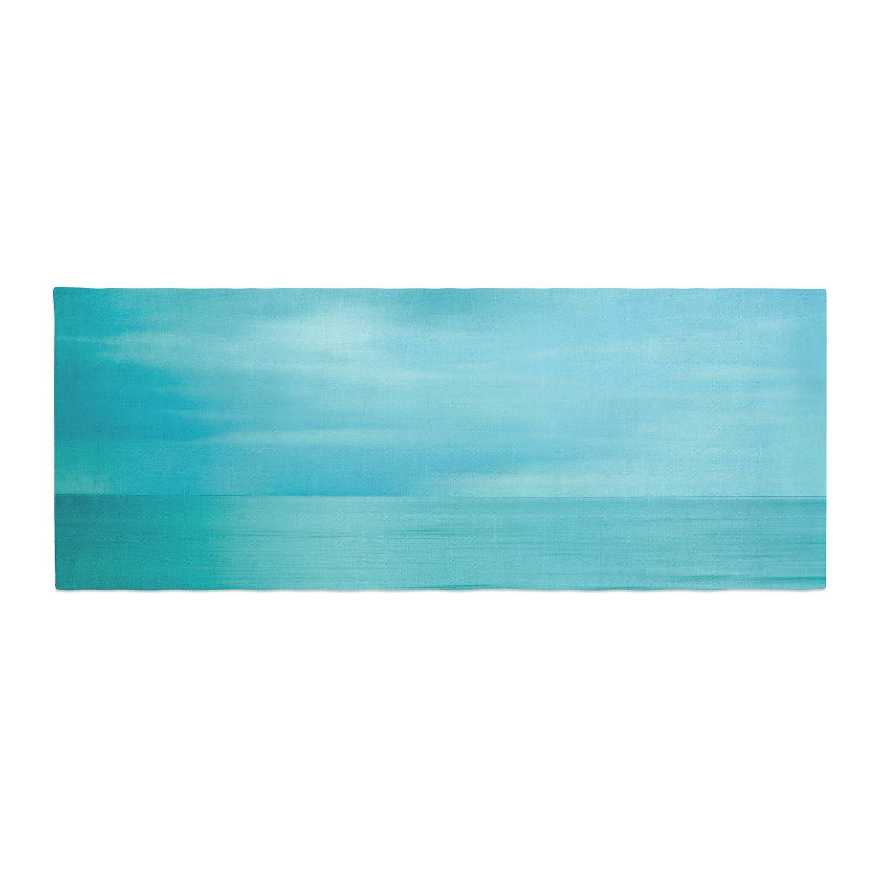 Kess InHouse Iris Lehnhardt Calm Sea Blue Teal Bed Runner, 34'' x 86''