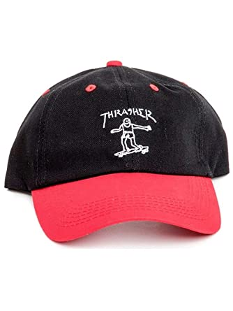 023d4d1209500 Thrasher Gonz Old Timer Hat Black Red at Amazon Men s Clothing store