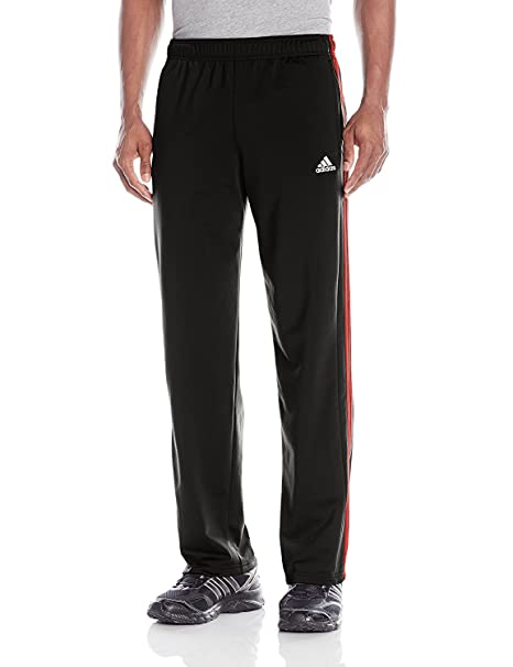 ee2e5e35845 Amazon.com  Adidas Tapered 3 Stripe Track Pants