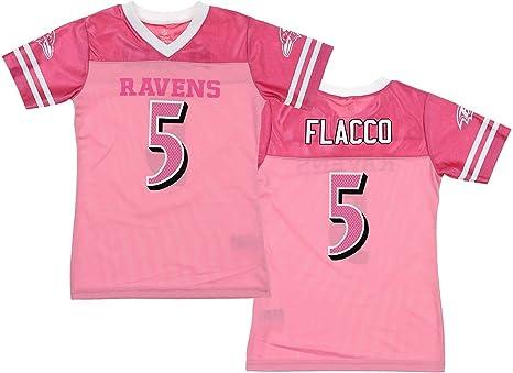 Joe Flacco Baltimore Ravens #5 Pink Name & Number Player Jersey