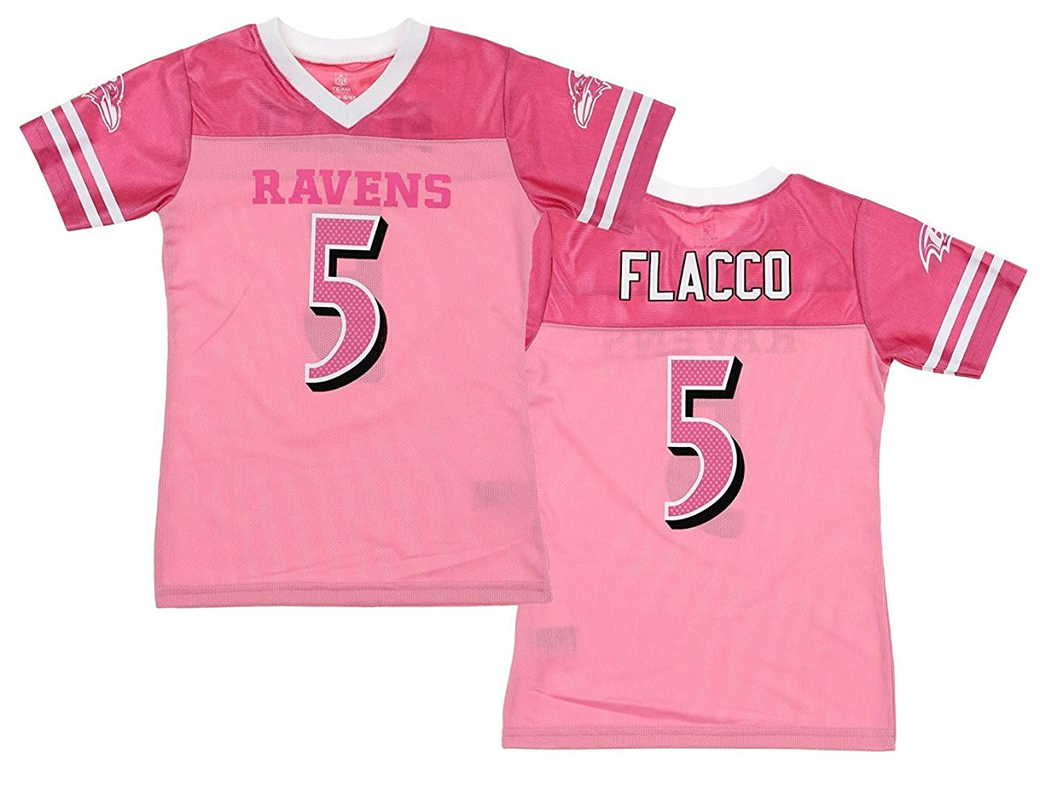 brand new a7fdc 91177 pink flacco jersey