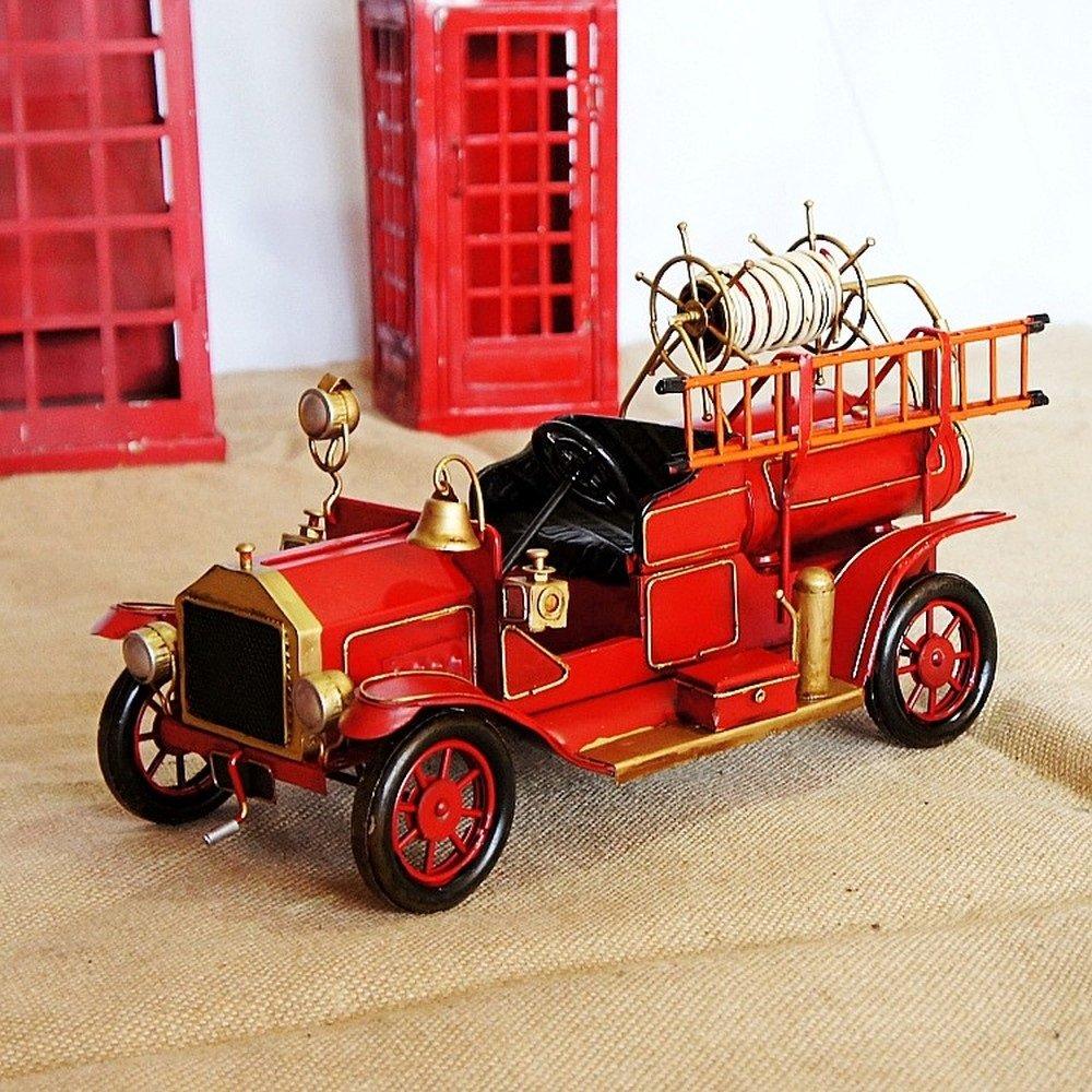 BWLZSP 1 PCS Retro old metal craft ornaments Outdoor fire truck ladder Auto window ornaments photography props AP5291622
