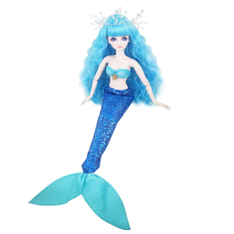 22inch Mermaid Fish,Full Set Doll 1/3 BJD Doll 56cm Ball Jointed Dolls Toy + Makeup + Full Set