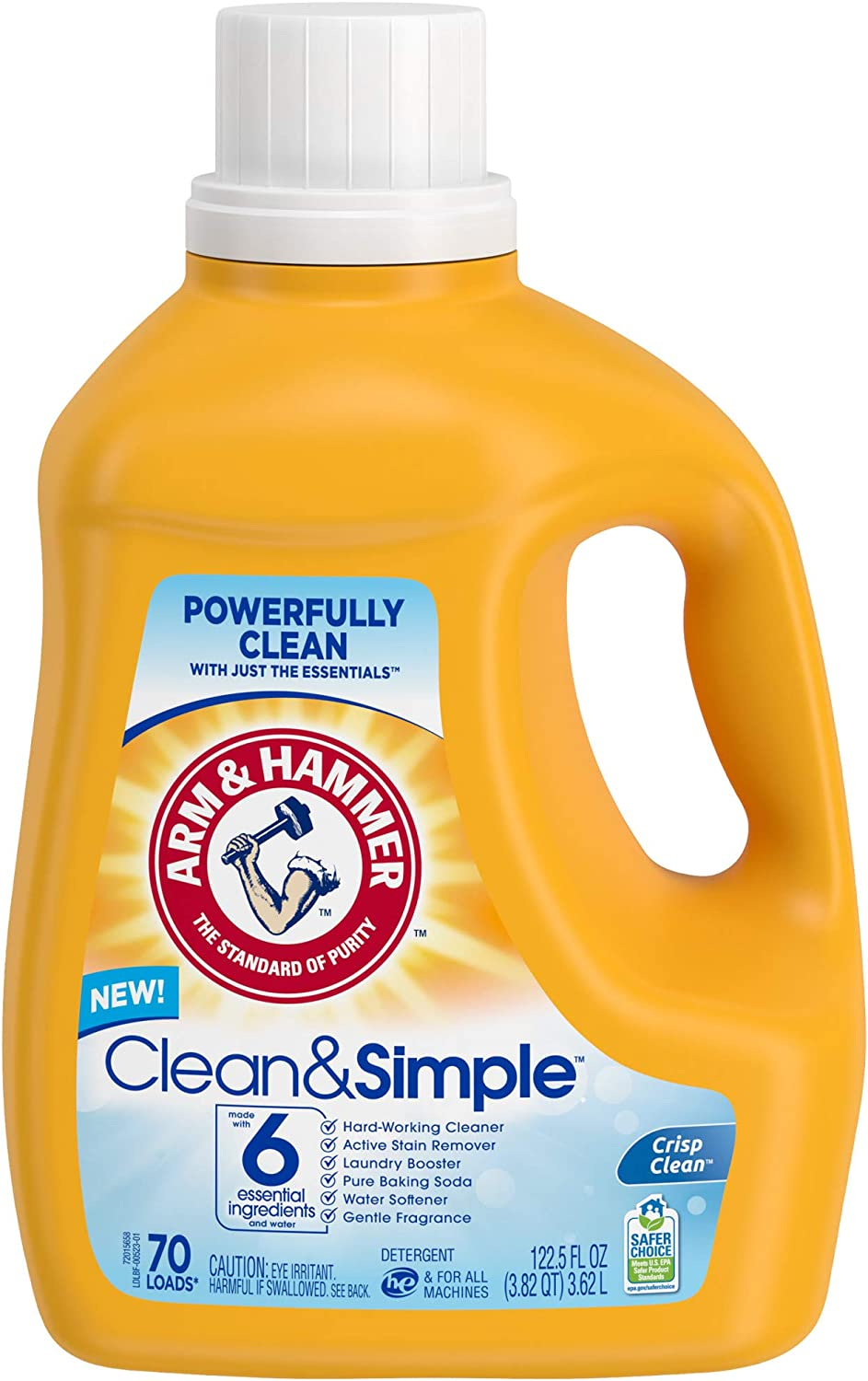 Arm & Hammer Clean & Simple Liquid Laundry Detergent, 70 Loads