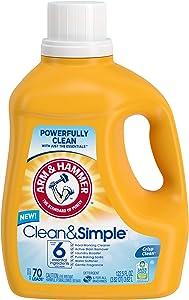 Arm & Hammer Clean & Simple Liquid Laundry Detergent, 70 Loads