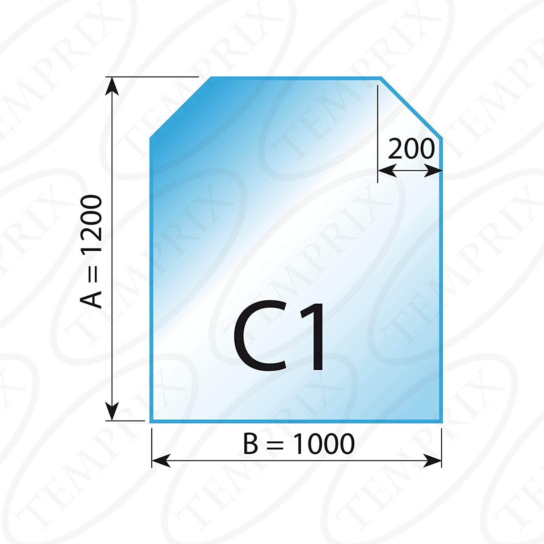 Placa de suelo Chimenea Cristal Transparente