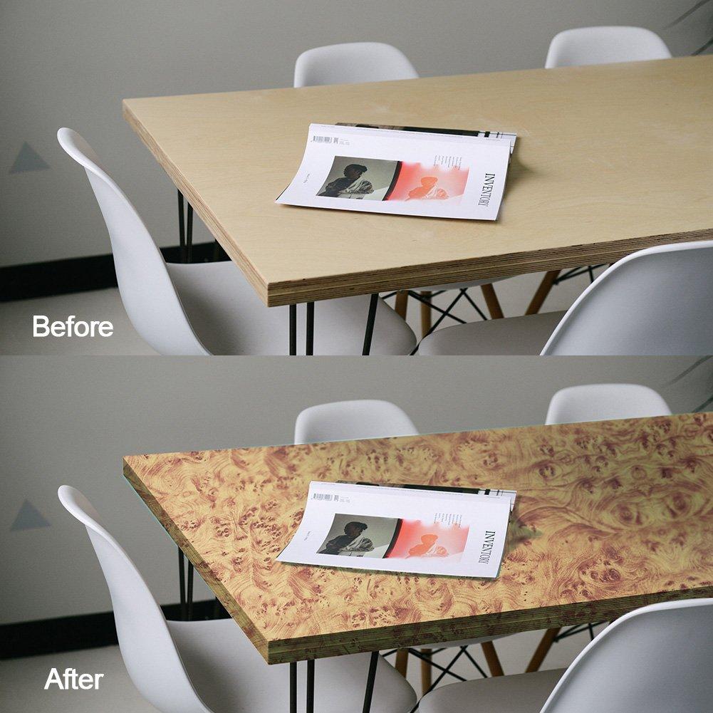 Yellow Maple Birdseye Wood Grain Vinyl Wrap Sticker Decorative Self-Adhesive Film 30CMx50CM