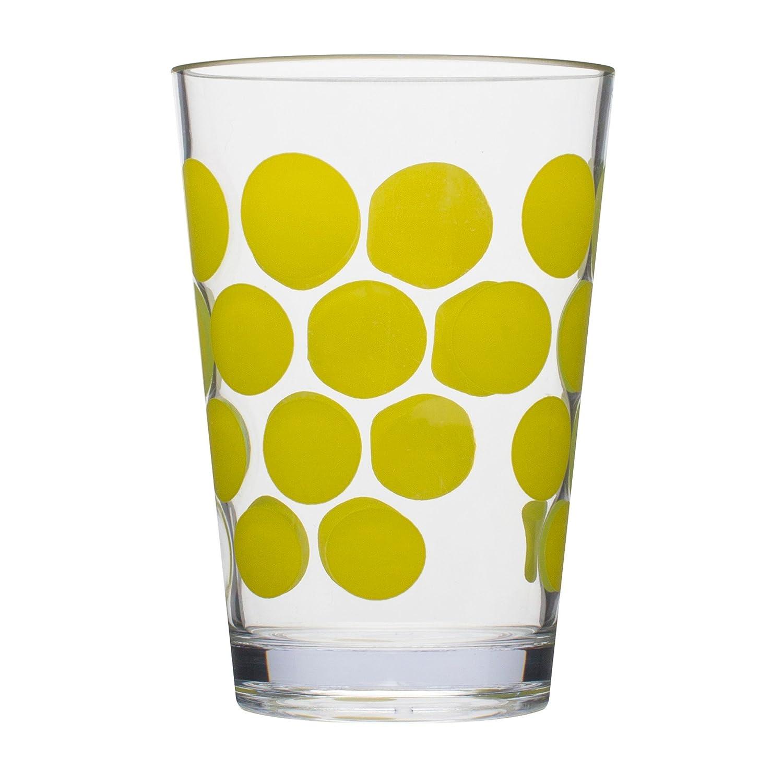 Glass juice cups design - Amazon Com Zak Designs Dot Dot Juice Tumbler 7 Ounce Azure Set Of 6 Juice Glasses Tumblers